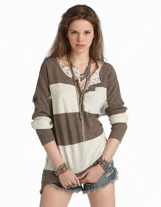 Free People Gold Rush Henley Sweater