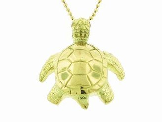 Jennifer Meyer Turtle Pendant in Yellow Gold