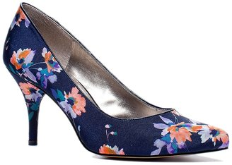 The Limited Patterned Mid-Heel Pumps
