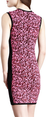 McQ by Alexander McQueen Sleeveless Popcorn Knit Dress, Shocking Pink/Black
