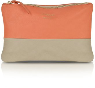 Le Parmentier Color Block Nappa Leather Zip Pouch