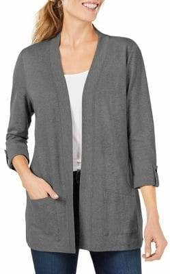 Karen Scott Open Front Cardigan