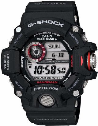 G-Shock Men's Digital Rangeman Black Resin Strap Watch 54x55mm GW9400-1 $300 thestylecure.com