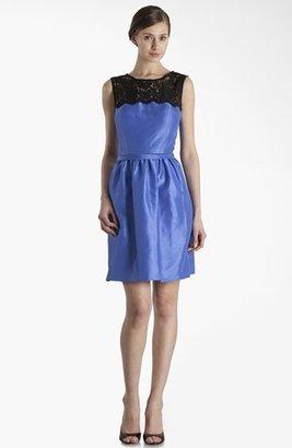 JS Boutique Lace Yoke Fit & Flare Dress