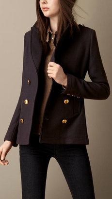 Burberry Fitted Pea Coat