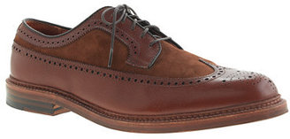 Alden for J.Crew leather and suede longwing bluchers