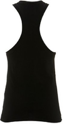 Sauce Heart Eyes Racer-Back Tank in Black