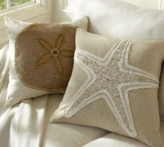 Pottery Barn Jeweled Applique Pillow Cover