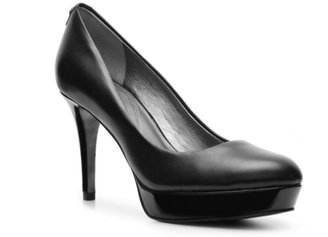 Tahari Sophia Leather Platform Pump