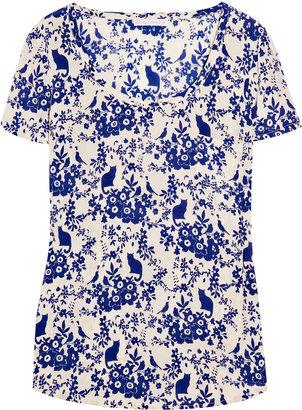 Paul & Joe Sister Okineko printed silk T-shirt