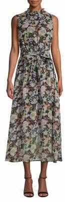 Sam Edelman Floral Smocked Neck Maxi Dress