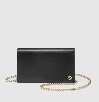 Gucci Leather Chain Wallet
