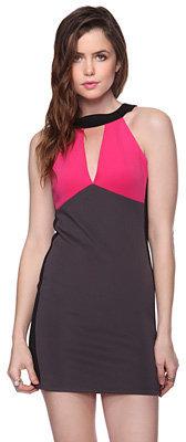 Forever 21 Colorblocked Halter Dress