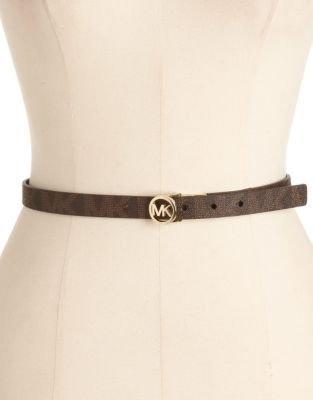MICHAEL Michael Kors Reversible Leather Belt