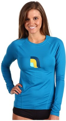The North Face Pacas L/S Water Top (Baja Blue) - Apparel