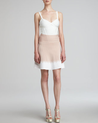 Herve Leger Ombre A-Line Bandage Skirt