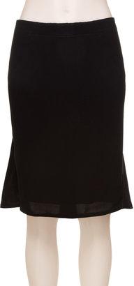Max Studio Draped Back Crepe Skirt