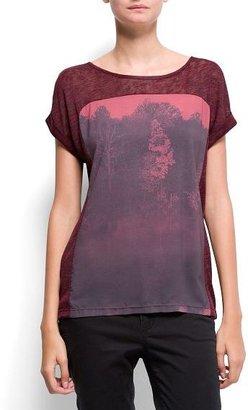 MANGO Forest panel t-shirt
