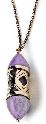 Pamela Love Amethyst Stone Cutout Necklace