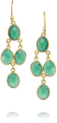 Chan Luu Gold-plated chalcedony earrings