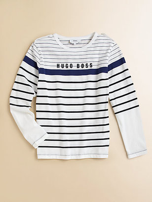 HUGO BOSS Boy's Striped Logo Tee