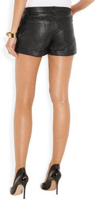 Theory Rizda washed-leather shorts