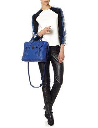 3.1 Phillip Lim Cobalt Leather Pashli Satchel