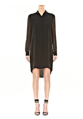 Alexander Wang Drape Back Shirt Dress With Hidden Placket