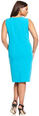 Kasper Plus Size Stretch Sheath Dress