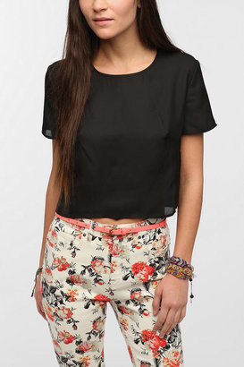 Urban Outfitters Reformed By The Reformation Holly Cropped Blouse