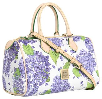 Dooney & Bourke Classic Satchel (Purple/White) - Bags and Luggage