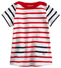 Petit Bateau Baby Marinère dress with contrast stripes