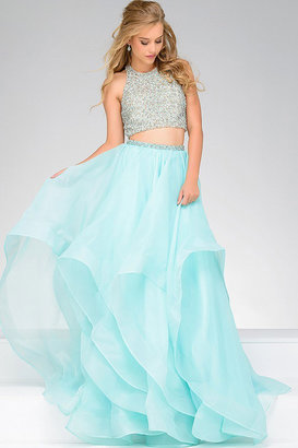 Jovani - Two Piece Embellished Top Ballgown 33220 $680 thestylecure.com