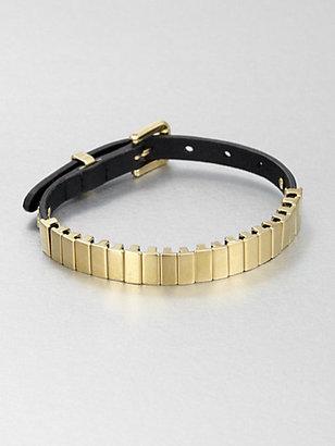 Michael Kors Leather and Link Bracelet