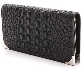 Alexander Wang Prisma Croc Embossed Wallet