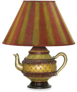 Bed Bath & Beyond Sterling Curious Accents Collection Tolbert Teapot Table Lamp With Shade