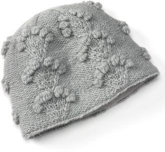 SIJJL Embroidered Blossoms Wool Beanie Hat
