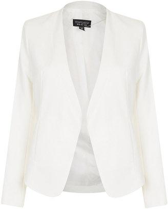 Topshop Collarless Panel Jacket