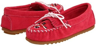 Minnetonka Kids Thunderbird II (Toddler/Little Kid) (Hot Pink Suede) Girls Shoes