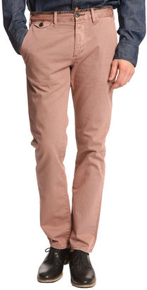 Paul Smith Pantalon Contrast Piping Bois De Rose