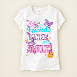 Children's Place Friends smile graphic tee