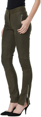 Rebecca Taylor Leather Moto Pant