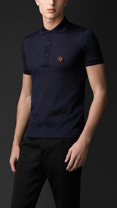 Burberry Detachable Heart Pin Polo Shirt