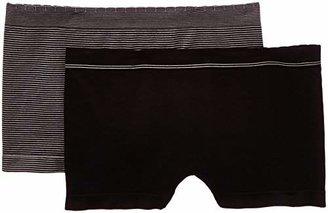 Billet Doux Women's Striped Brief - Black - Noir/Noir/Gris - (Brand size: 38/40)