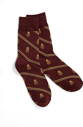 Ralph Lauren Boy's Skull & Stripes Socks