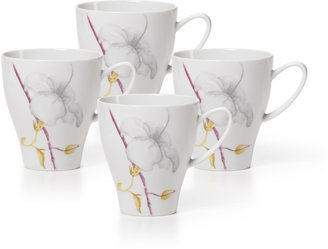 Mikasa Aliza Gris Set of 4 Mugs