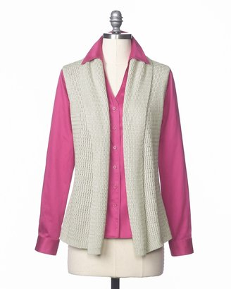 Coldwater Creek Relaxed sweater vest