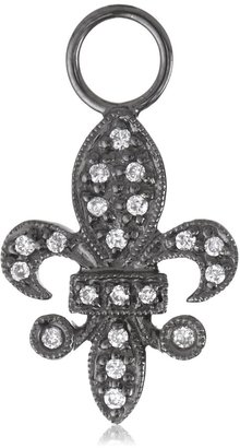 "KC Designs Charmed Life"" Diamond 14k White Gold Fleur-De-Lis Ear Charm"