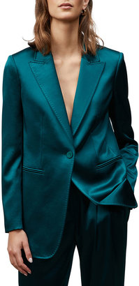 Lafayette 148 New York Whitney One-Button Wool-Silk Blazer