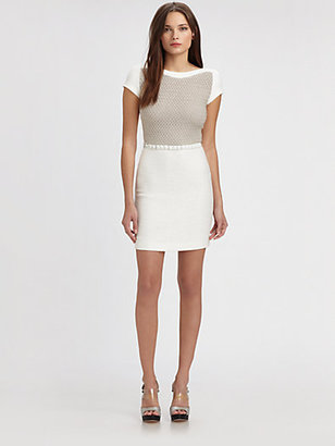 L'Agence Crocheted-Bodice Dress